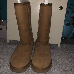 High brown ugg boots